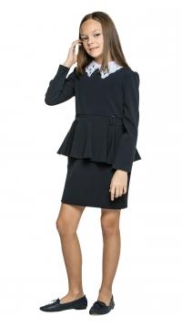 Платье для девочки , темно-синий О72984
