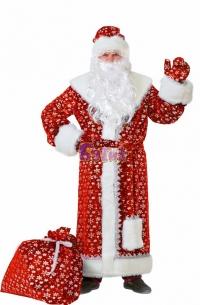 Дед Мороз плюш красный  р.54-56 184 (для взрослых)