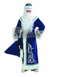 Дед Мороз аппликация синий    (для взрослых)