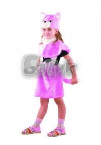 Кошка розовая   (мех)