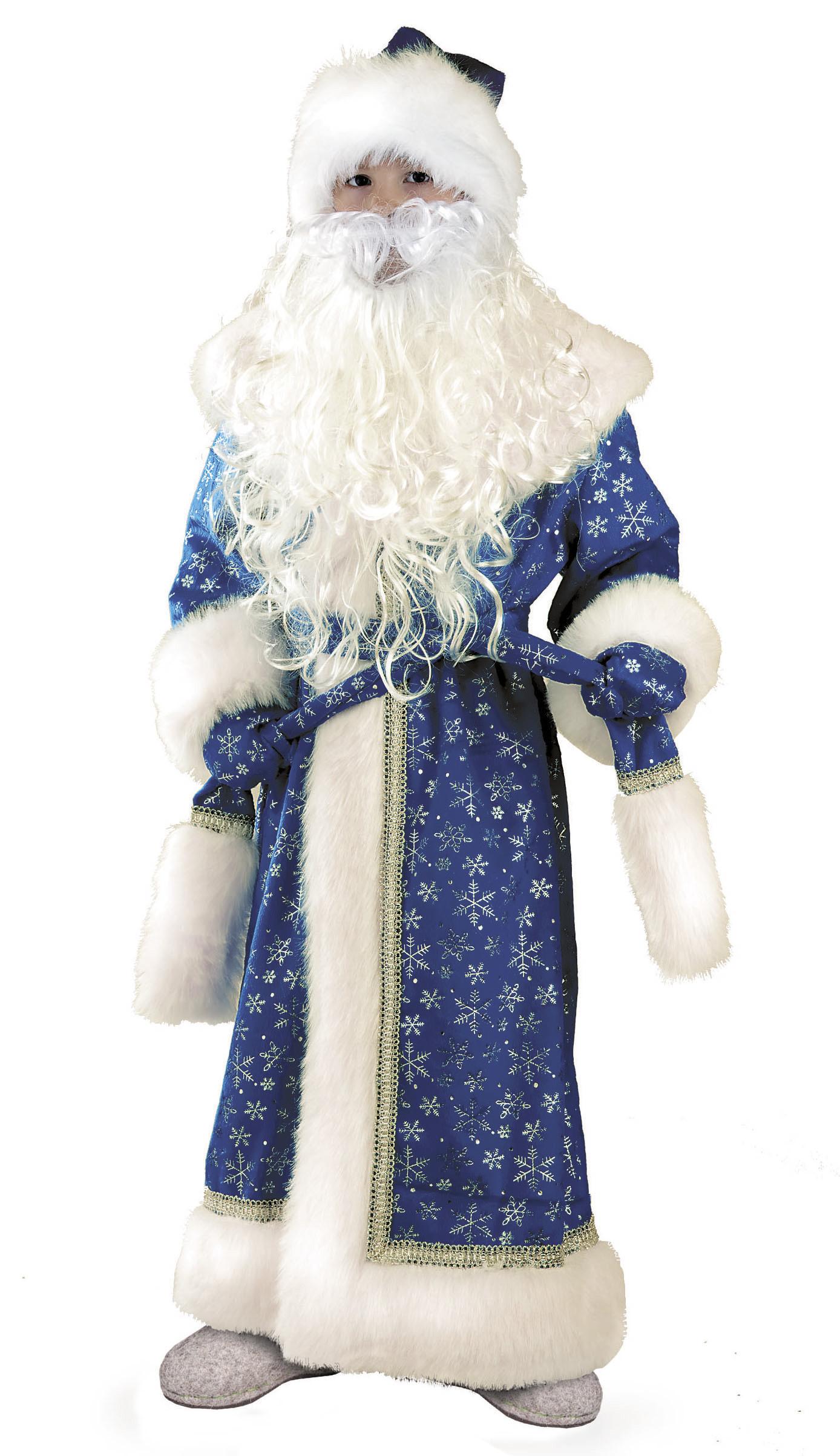 Дед Мороз(плюш) синий