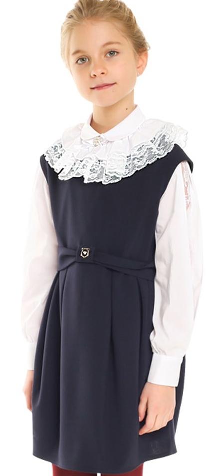 Сарафан  для девочки , темно-синий О73022