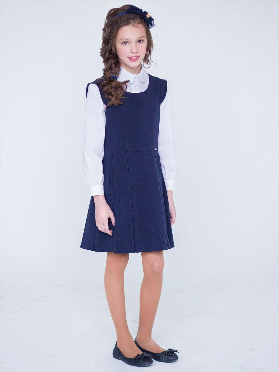 Сарафан  для девочки , темно-синий О71469