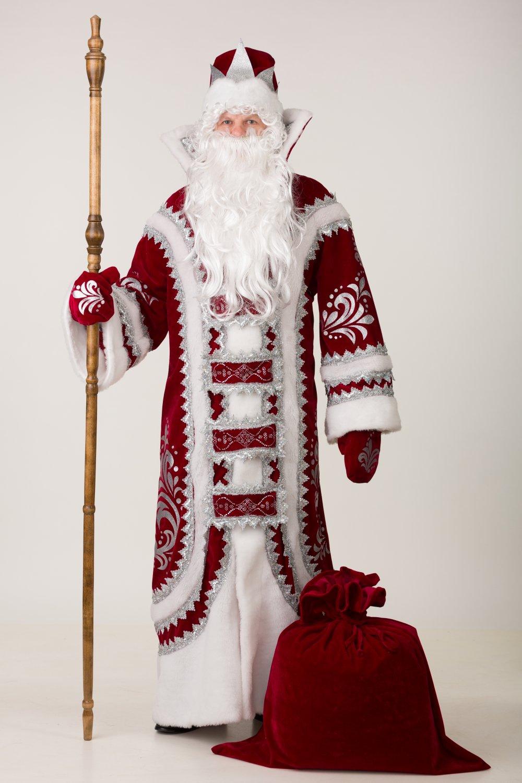 Дед Мороз Купеческий бордо р.54-56 193-1 (новинка)