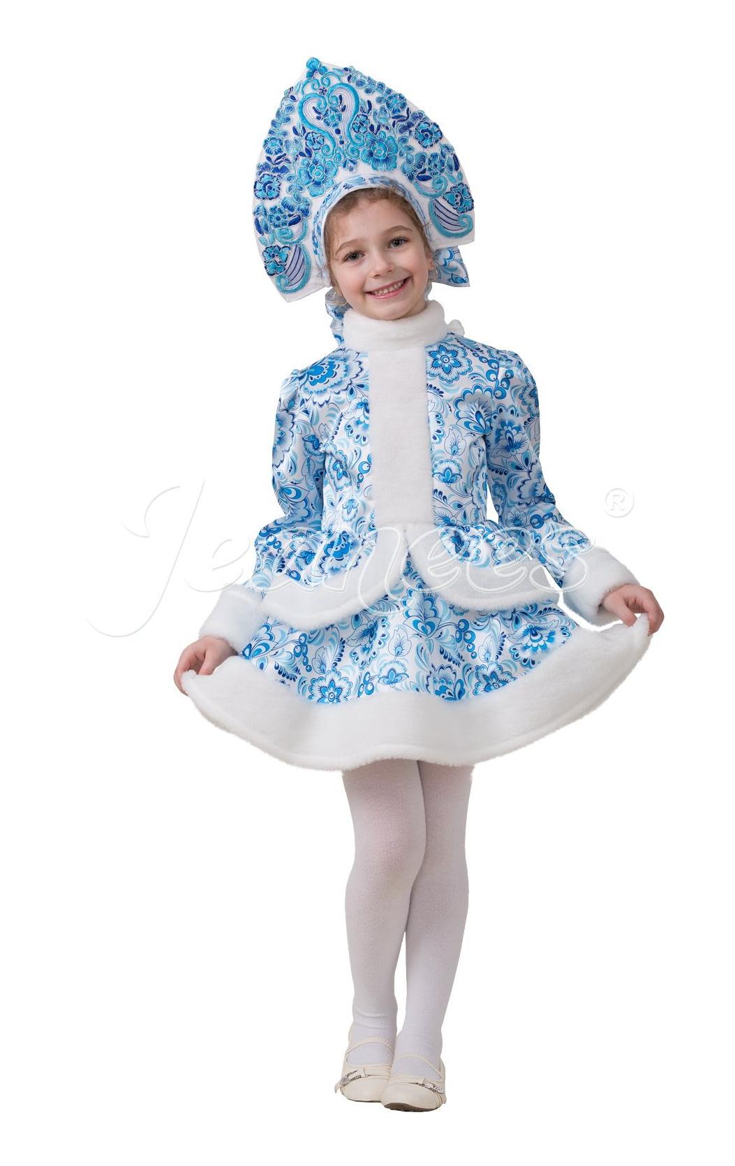 Снегурочка Гжель  (Русский стиль)