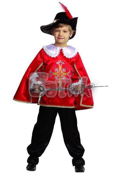 Мушкетер  красный   ( текстиль )