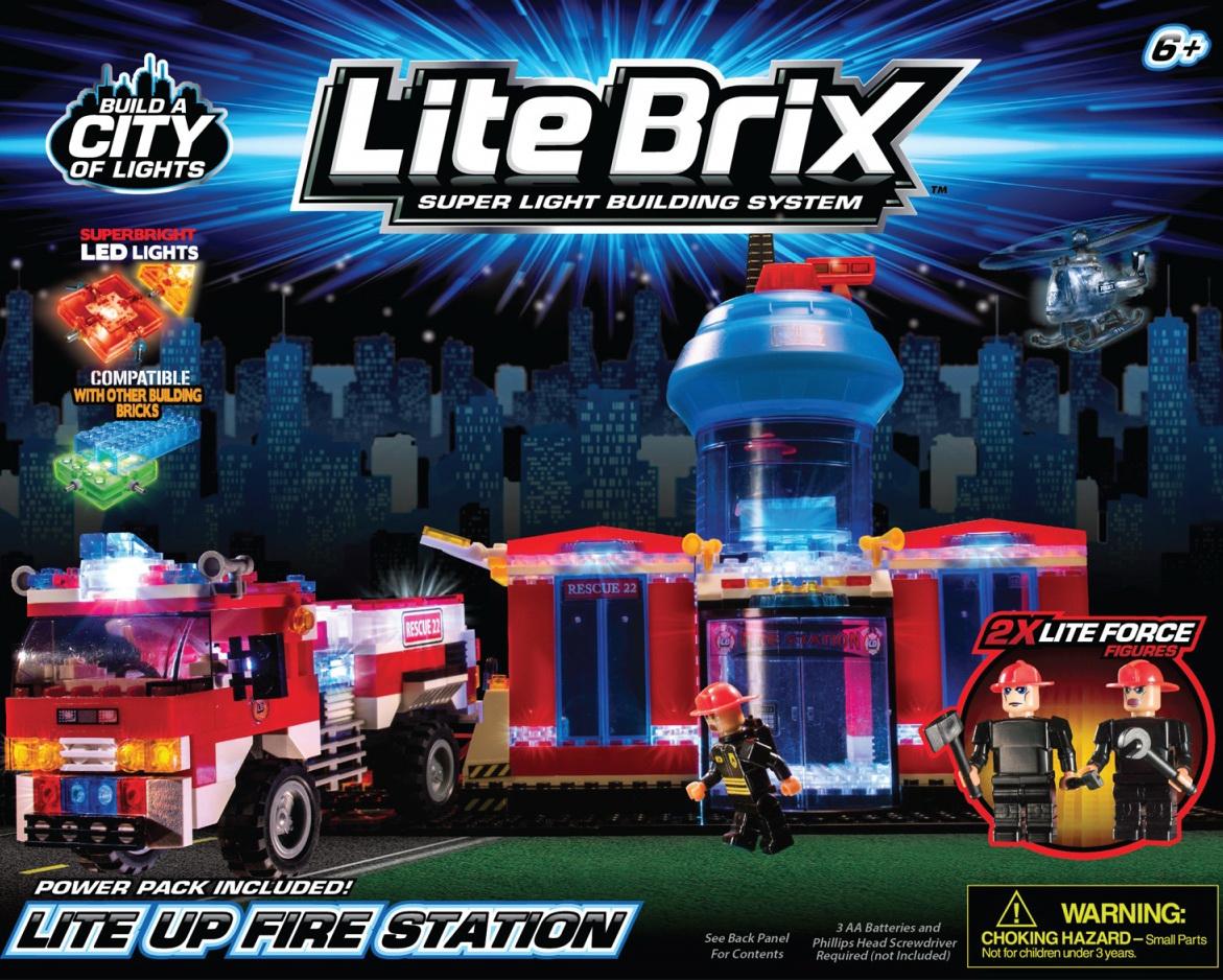 Конструктор Lite Вrix Пожарная станция с машиной Арт.35805